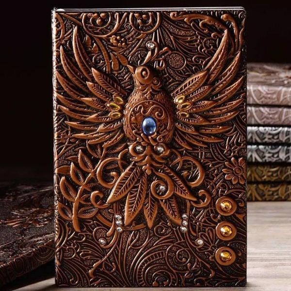 Livro diário retrô phenix vintage