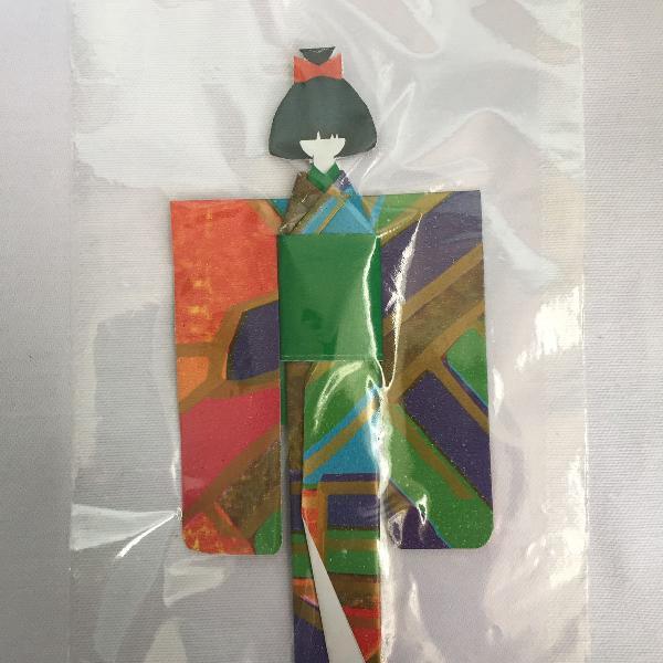 Marcador de livro em origami - colorido