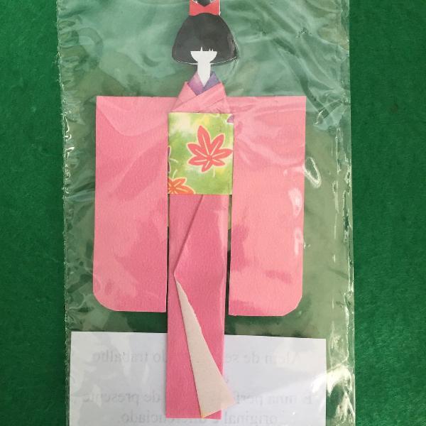 Marcador de livro em origami - rosa
