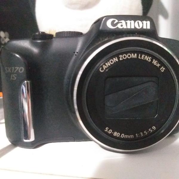 Canon sx170 is + bolsa + cartão 8gb