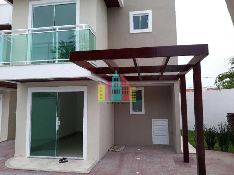 Condomínio casa duplex nova 2quartos um suíte em