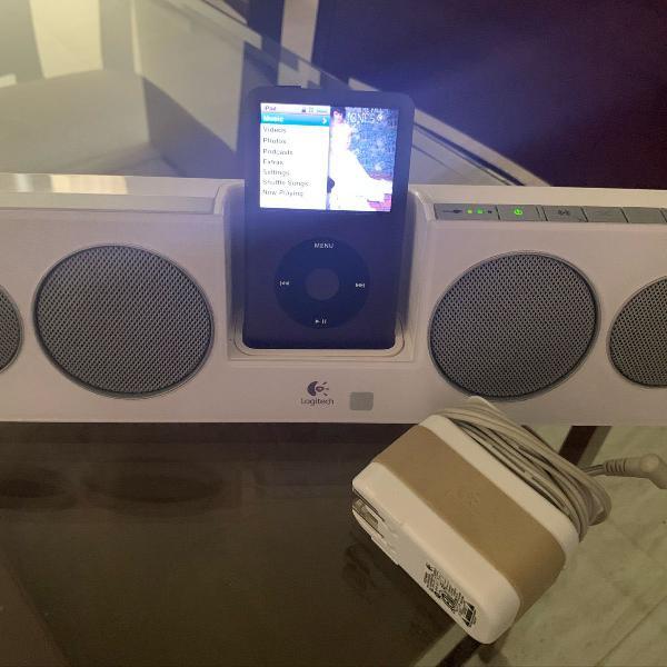 Ipod classic com caixinha de som