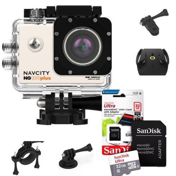 Kit câmera action esportiva navcity 4k
