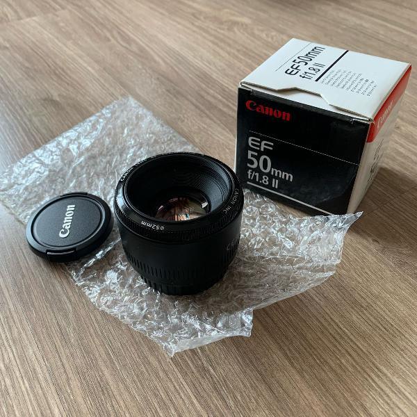Lente canon 50 mm - f/1.8