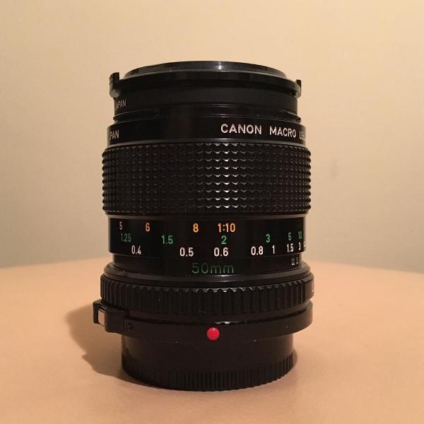 Lente macro 50mm canon