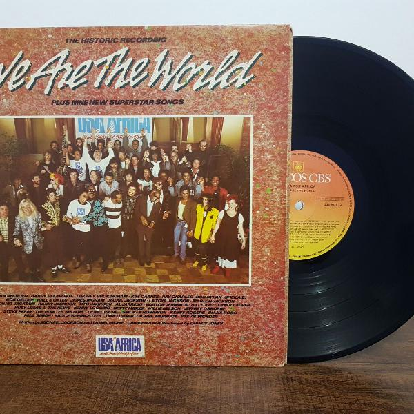 Lp vinil we are the world usa for africa