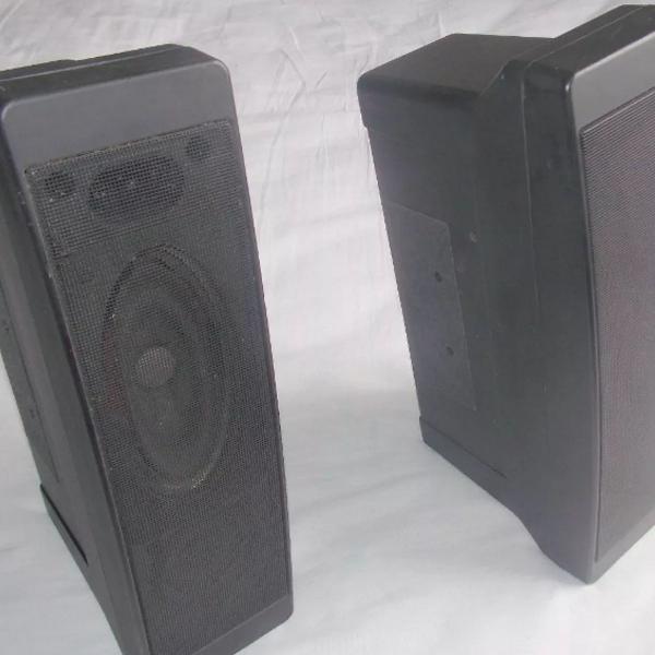 Par de caixas acústicas 8 ohms entrada máxima 50 watts rms
