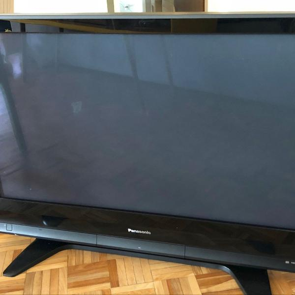 Tv televisão de plasma panasonic viera preta excelente