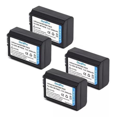 4x bateria fw50 sony a7ii a7 a7s a6500 a6400 a6300 a6000 +nf