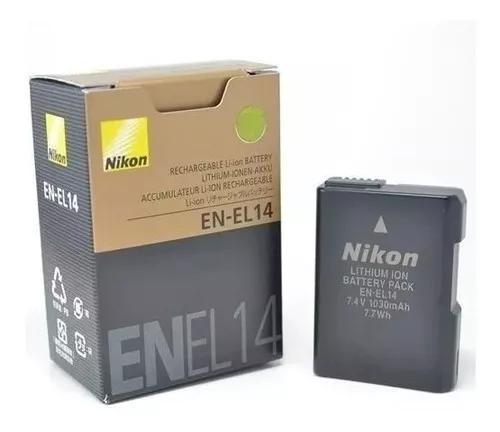 Bateria en-el14 p/nikon d3100 d3200 d3300 d5200 d5100.gratis