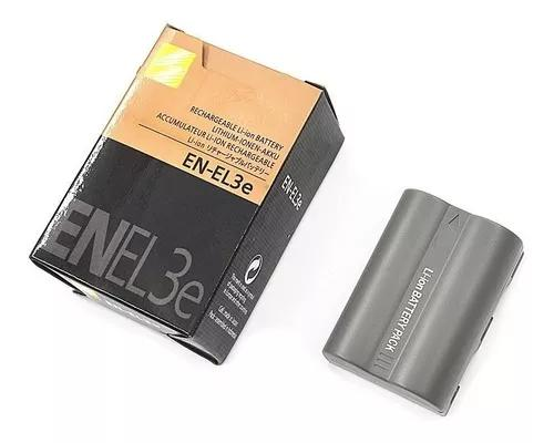 Bateria en-el3e p/nikon d50 d70 d80 d90 d100 d200 d300 nova