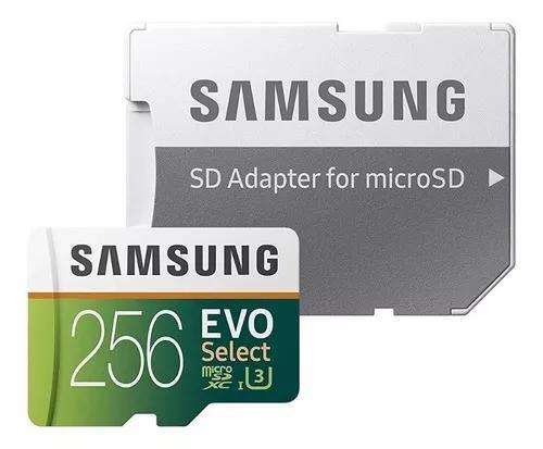 Cartão micro sd samsung 256gb 100mb/s u3 4k original
