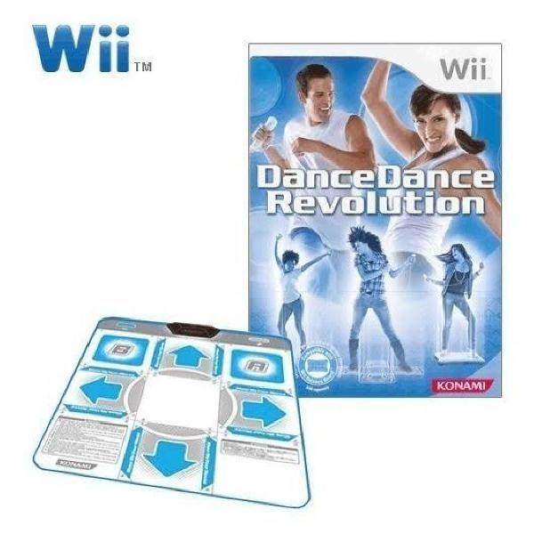 Dance dance revolution jogo + tapetes wii