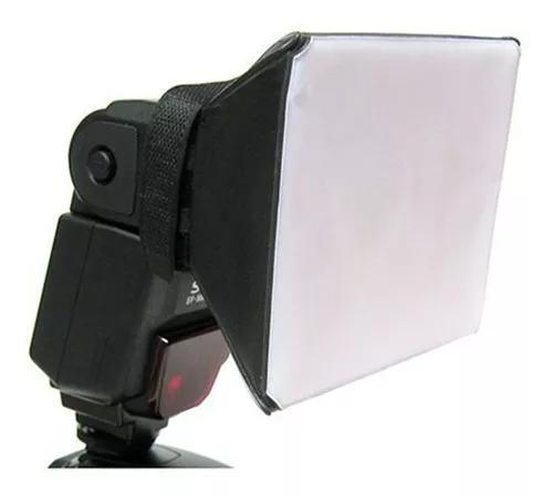 Difusor flash mini softbox universal dobrável p/ speedlight