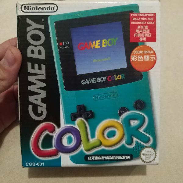 Game boy color - relíquia na caixa original