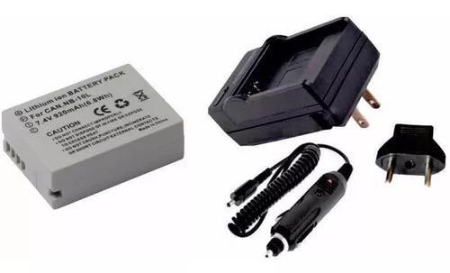 Kit bateria nb-10l + carregador p canon sx40h sx50 sx60
