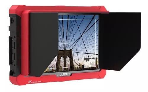 Monitor lilliput a7s 1920x1200 4k com bateria e carregador