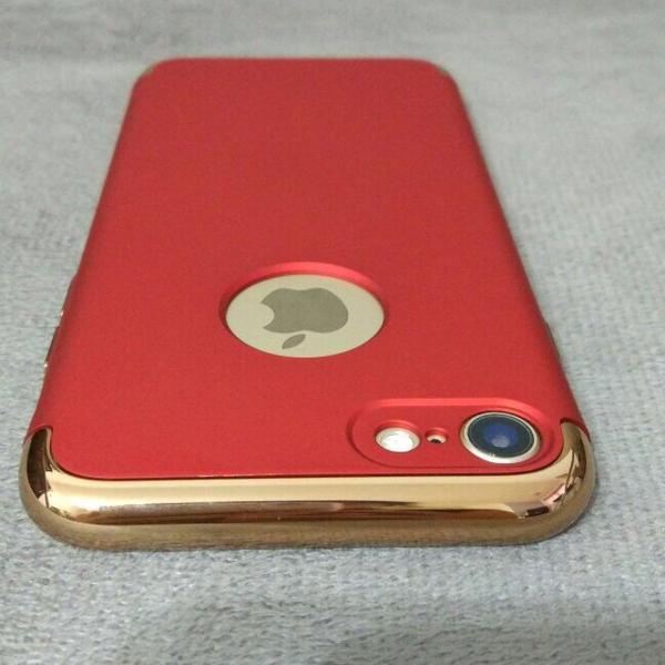 Novo case iphone 7 colorido - rosa, prata, gold
