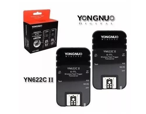 Radio flash ttl yongnuo yn622 ii compatível canon c/nf