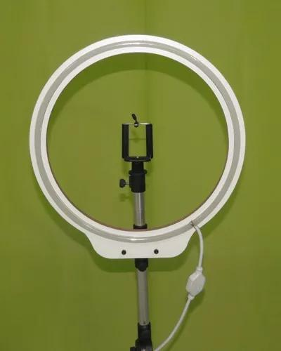 Ring light neon led 36 cm + tripé reclinável 110volts r l