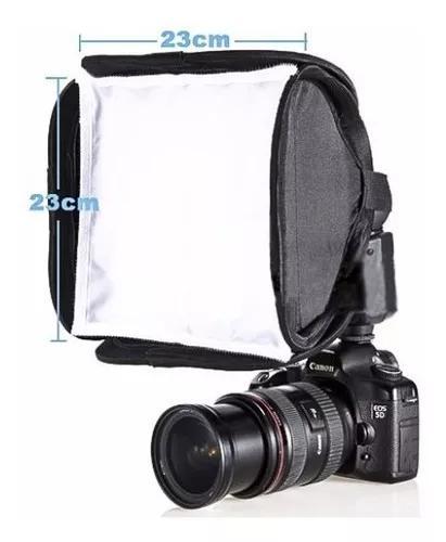 Softbox p/ flash speedlite universal 23x23 canon nikon sony