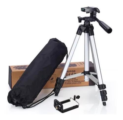 Tripé universal 1,10m câmera celular ring light