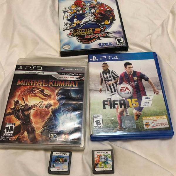 Combo jogos ps4, ps3, ds e gamecube