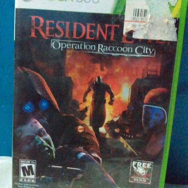 Jogo resident evil operation raccoon city xbox 360