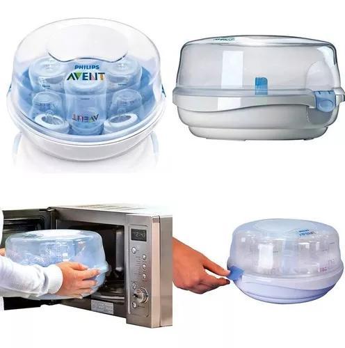 Esterilizador mamadeira a vapor de microondas philips avent