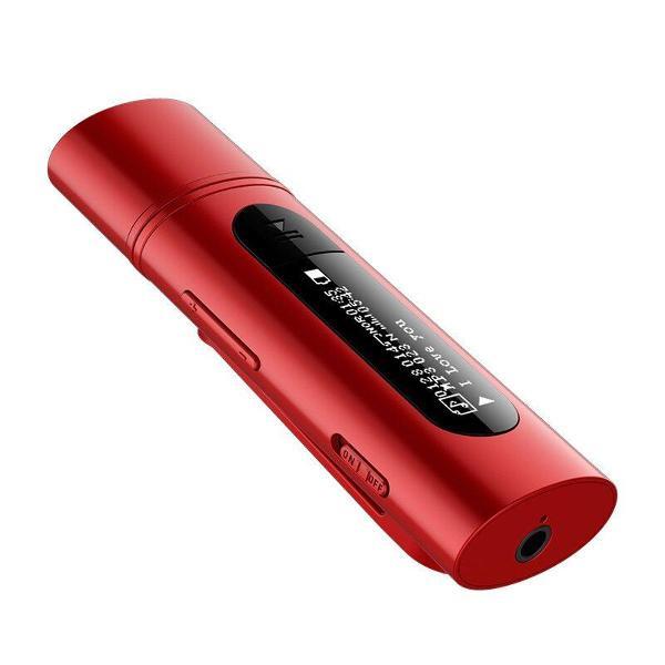 Gravador de voz mp3 player 8gb recarregável rádio fm