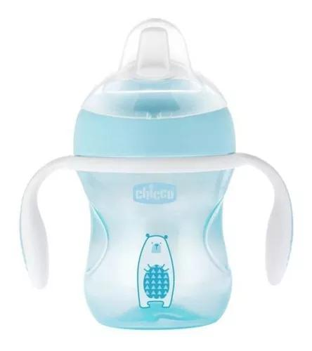 Copo transition cup anti vazamento 4 meses+ azul chicco 9112