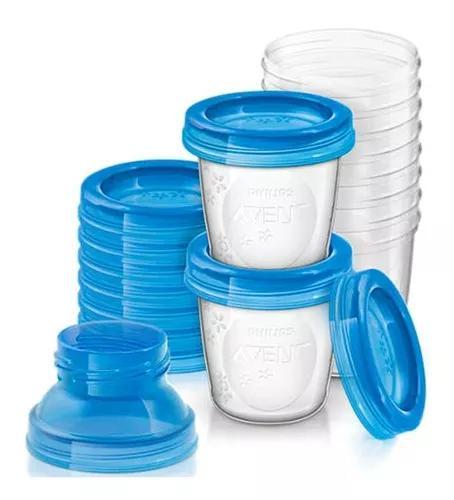 Kit 10 copos armazenamento leite materno philips avent