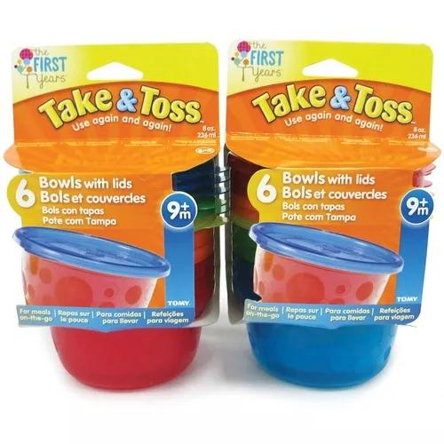 Kit 6 potes infantis 236 ml take & toss - the first years
