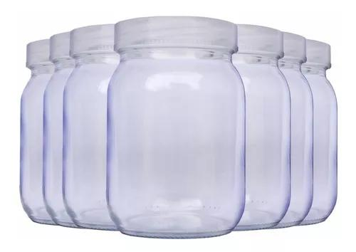 Kit com 10 potes de vidro para armazenar leite materno 200ml