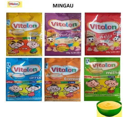 Kit com 18 sachet mingau vitalon 200g