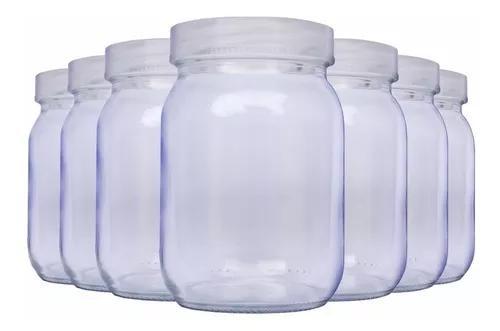 Kit com 7 potes de vidro para armazenar leite materno 200ml
