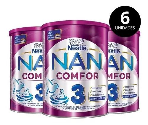 Leite nan comfor 3 800g nestle pack 6 latas