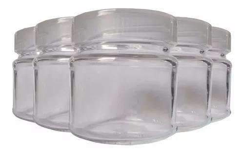 Pote de vidro para armazenar leite materno 100ml 5 unidades