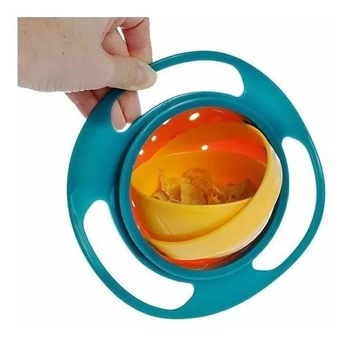 Pote que gira tigela prato mágico infantil gyro bowl 360°