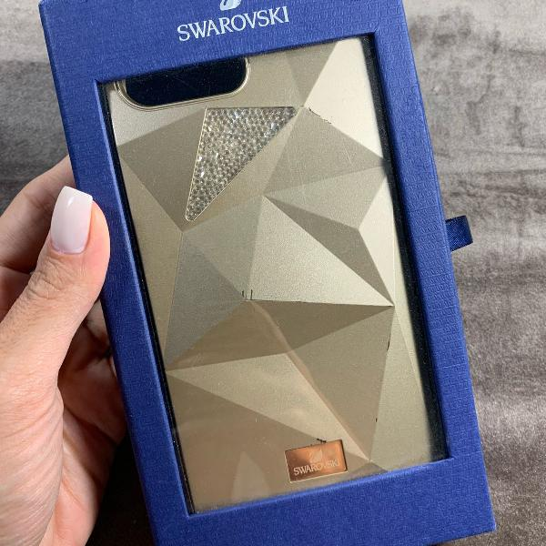 Case dourado swarovski iphone 7 plus