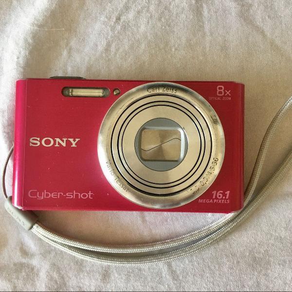 Câmera sony cyber-shot w730 16.1 mpx sd 8gb 8x zoom ótico