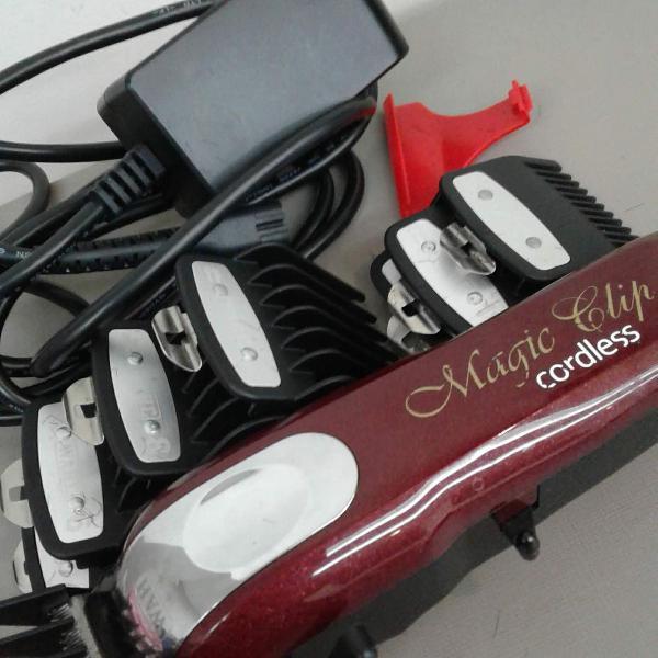 Máquina corte de cabelo - magic clip vermelha