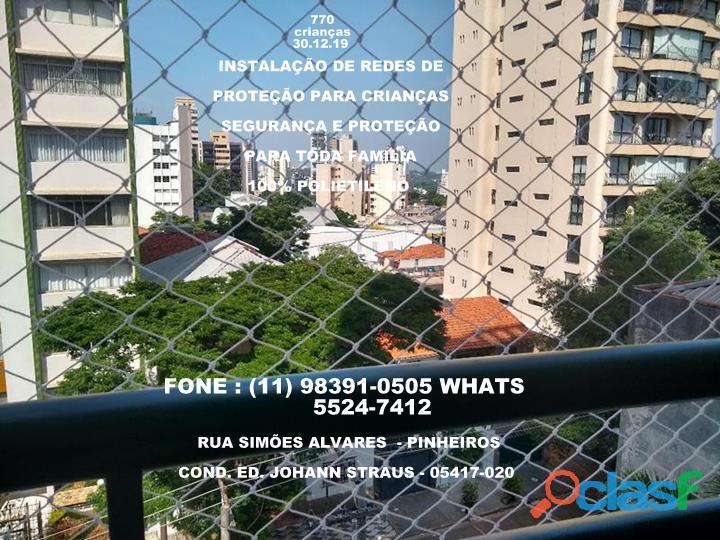 Telas de Proteção em Pinheiros, Rua Simão Alvares, (11) 98391 0505 whats
