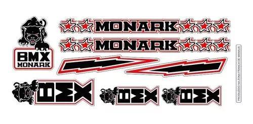 Adesivos bicicleta monark bmx pantera preto vermelho e branc