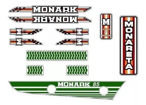 Adesivos bicicleta monark monareta 1985 complet - frete gr.