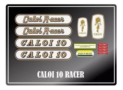 Adesivos para bicicleta antiga caloi 10 racer - frete