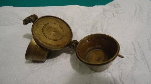 Antigo quinteiro (medidor de ouro) incompleto bronze