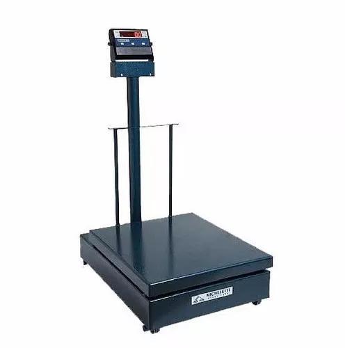 Balança eletromecânica 300kg x 100g 41x57 c/ coluna