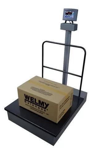 Balança eletromecânica plataforma 500kg 75x75cm w500 welmy