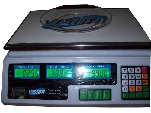 Balança eletronica digital 40kg c/ bateria recarregável